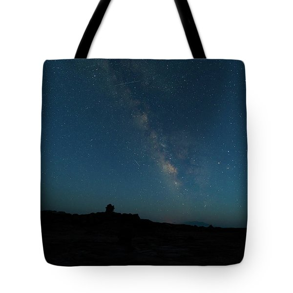 Tote Bag featuring the photograph The Milky Way At Goblin Valley by Jim Thompson