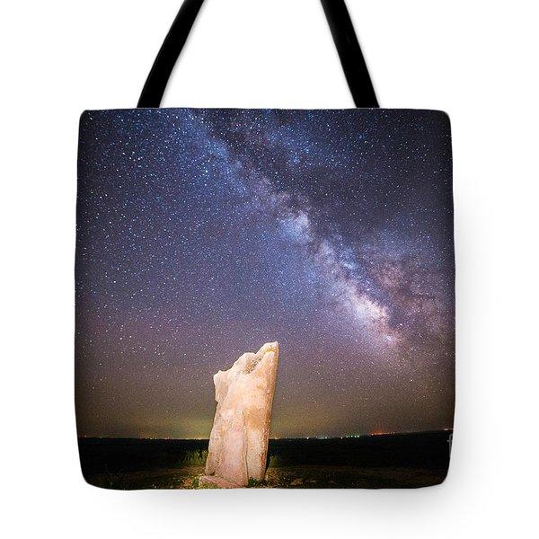 The Milky Way At Teter Rock Tote Bag
