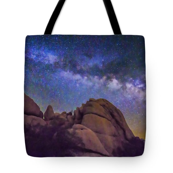 Milky Way Over Indian Rock Tote Bag