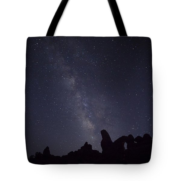 The Milky Way Over Turret Arch Tote Bag