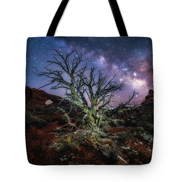 The Milky Way Tree Tote Bag