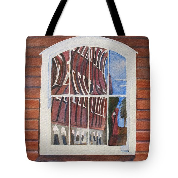 The Mill House Reflects Upon Itself Tote Bag by Jenny Armitage