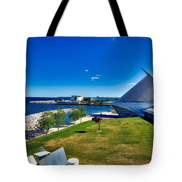 The Milwaukee Art Museum On Lake Michigan Tote Bag