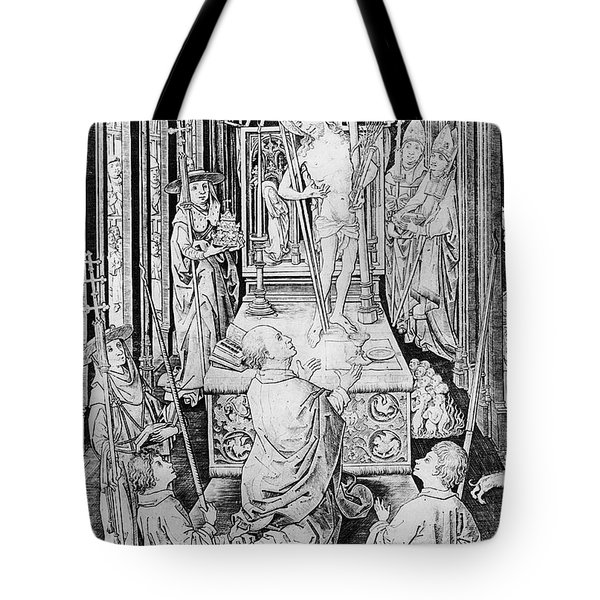 The Miracle Of Transubstantiation Tote Bag