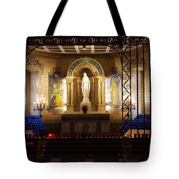 The Miraculous Medal Shrine Tote Bag