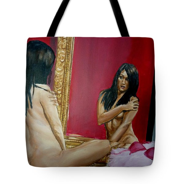 The Mirror Tote Bag by Bryan Bustard