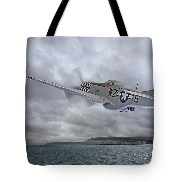 The Mission - P51 Over Dover Tote Bag