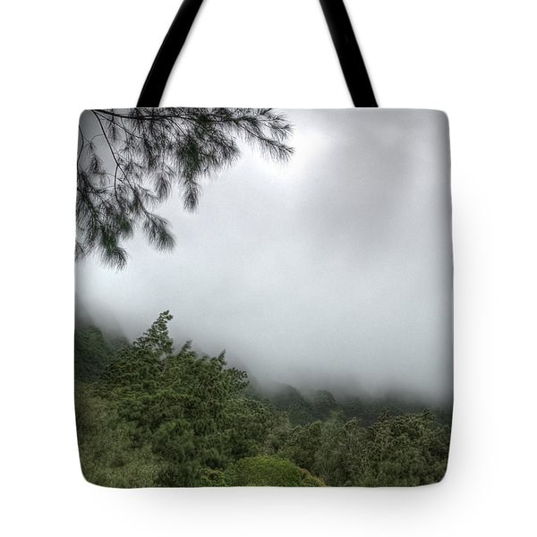 Tote Bag featuring the photograph The Mist On The Mountain by Break The Silhouette