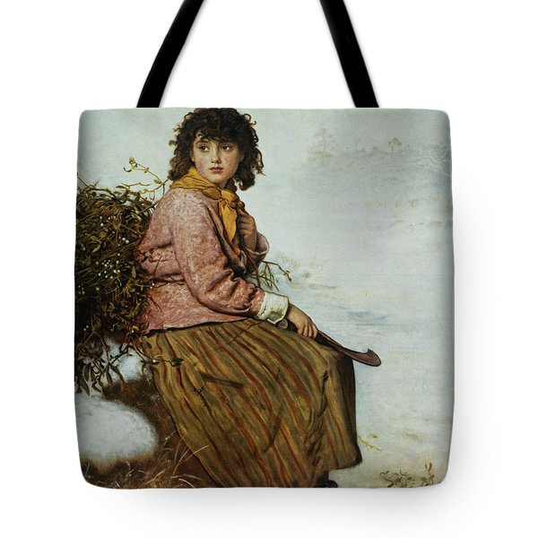 The Mistletoe Gatherer Tote Bag by Sir John Everett Millais