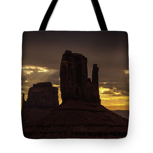The Mittens Sunrise Tote Bag