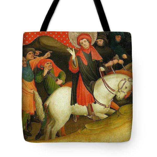 The Mocking Of Saint Thomas Tote Bag by Master Francke