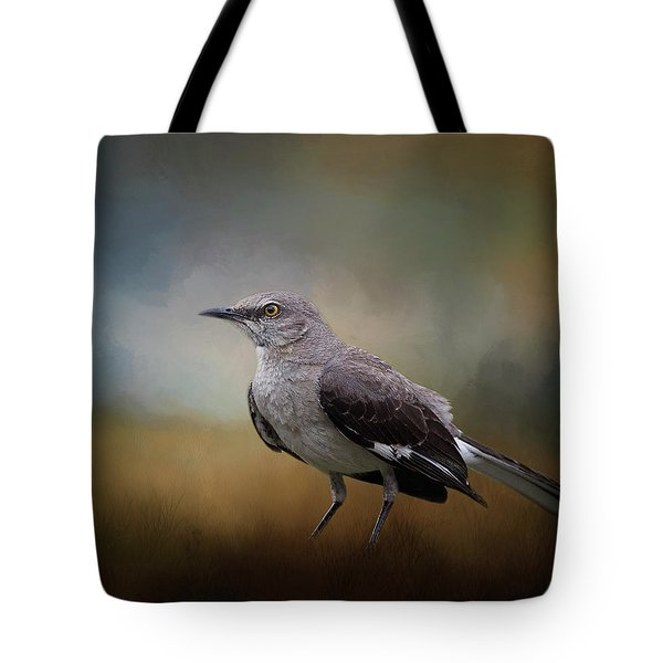 Tote Bag featuring the photograph The Mockingbird A Bird Of Many Songs by David and Carol Kelly