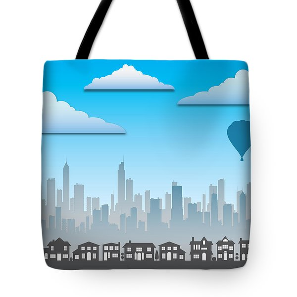 Tote Bag featuring the photograph The Modern City by Anthony Citro