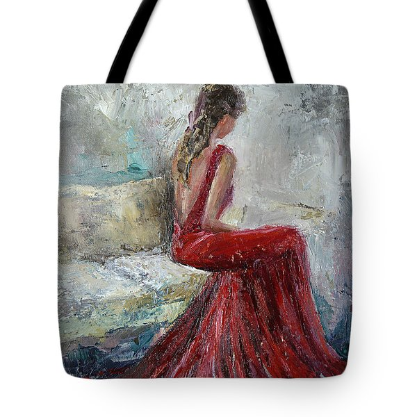 Tote Bag featuring the painting The Moment by Jennifer Beaudet
