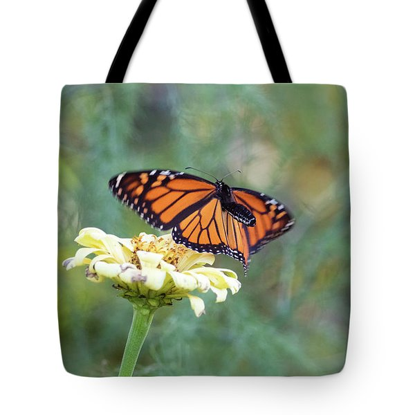 Tote Bag featuring the photograph The Monarch Has Arrived by Brian Hale