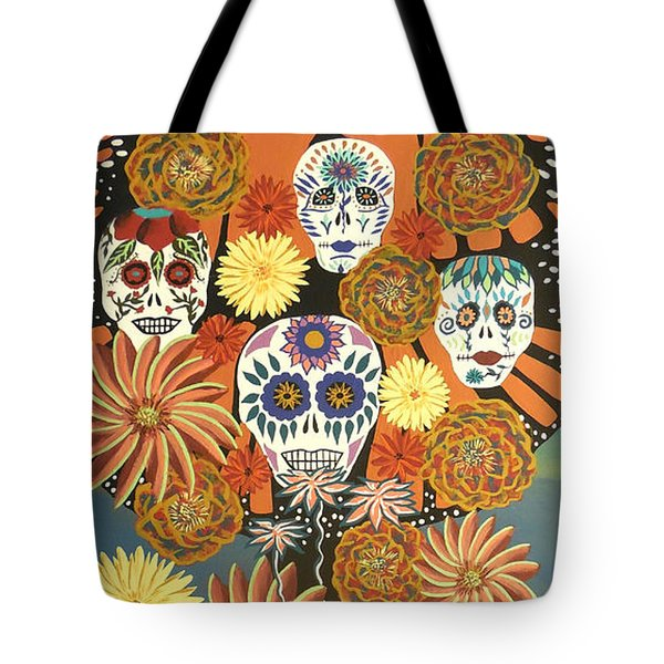 The Monarch's Tree Of Life And The Dead - Day Of The Dead Tote Bag