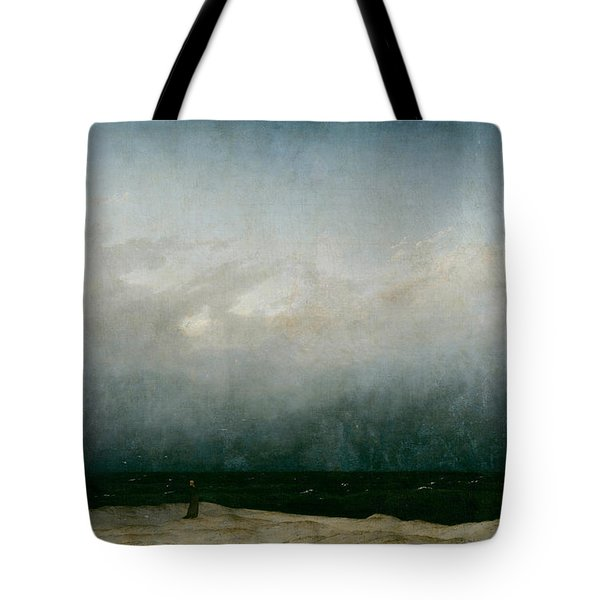 Monk By The Sea  Tote Bag