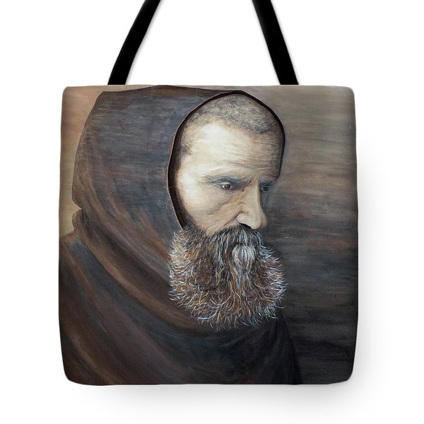 The Monk Tote Bag by Judy Kirouac
