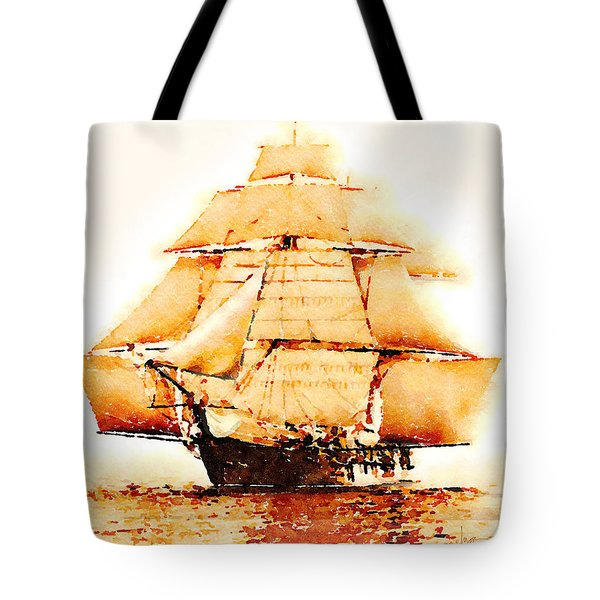 Tote Bag featuring the painting The Monongahela by Angela Treat Lyon