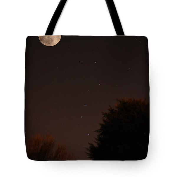 The Moon And Ursa Major Tote Bag