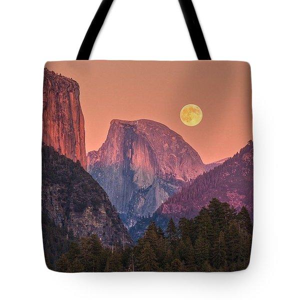 The Moon Hangs Low Tote Bag