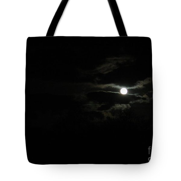 The Moon In Between Tote Bag