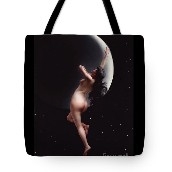 Tote Bag featuring the painting The Moon Nymph   by Pg Reproductions
