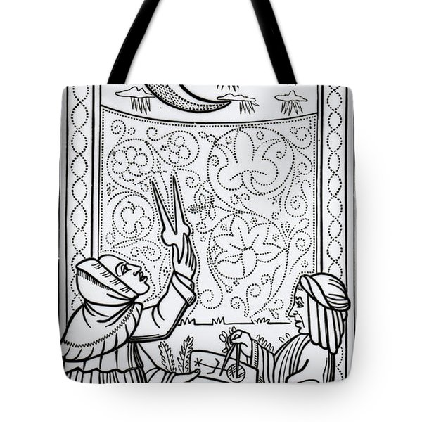 The Moon  Tarot Card Tote Bag
