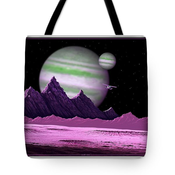 The Moons Of Meepzor Tote Bag by Scott Ross