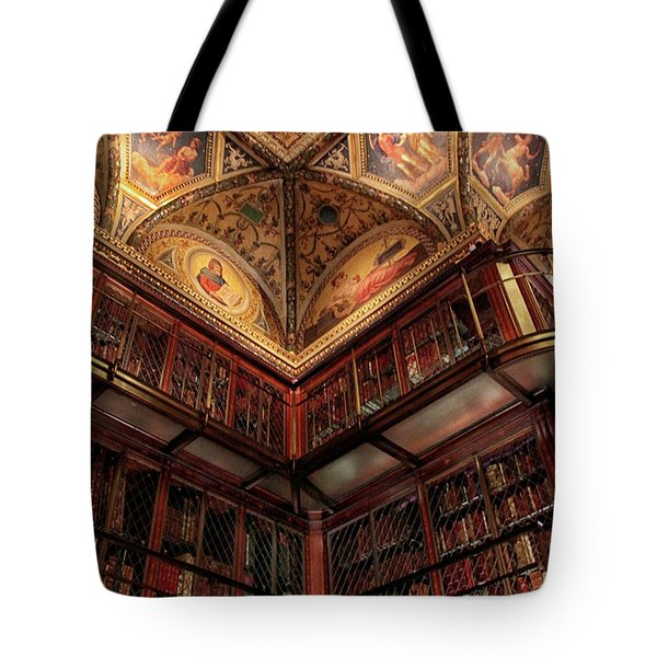 Tote Bag featuring the photograph The Morgan Library Corner by Jessica Jenney