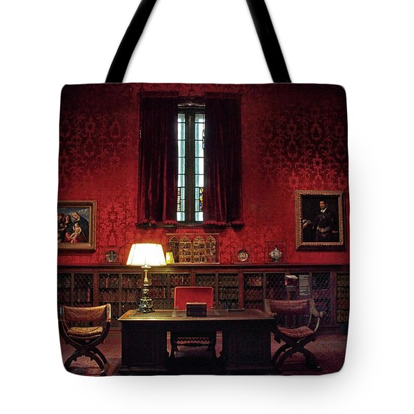 Tote Bag featuring the photograph The Morgan Library Study by Jessica Jenney