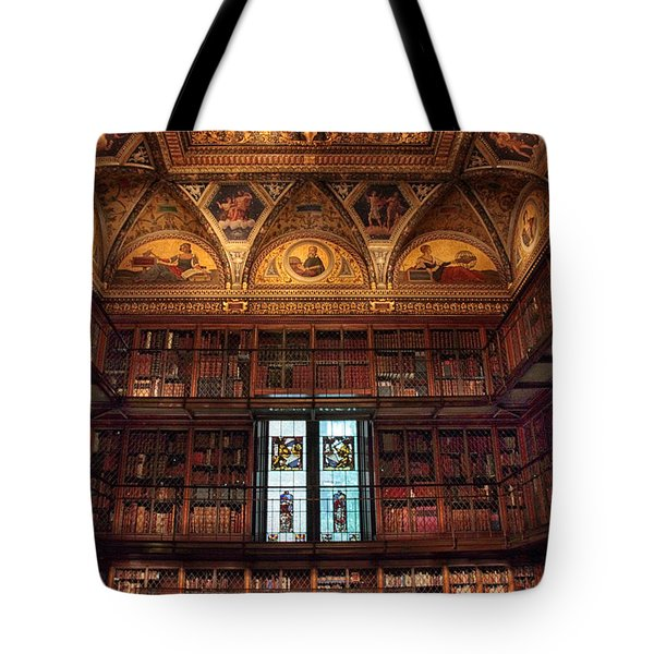 Tote Bag featuring the photograph The Morgan Library Window by Jessica Jenney