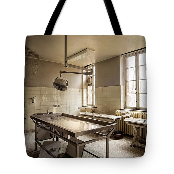 the morgue autopsy table - Urban exploration Tote Bag