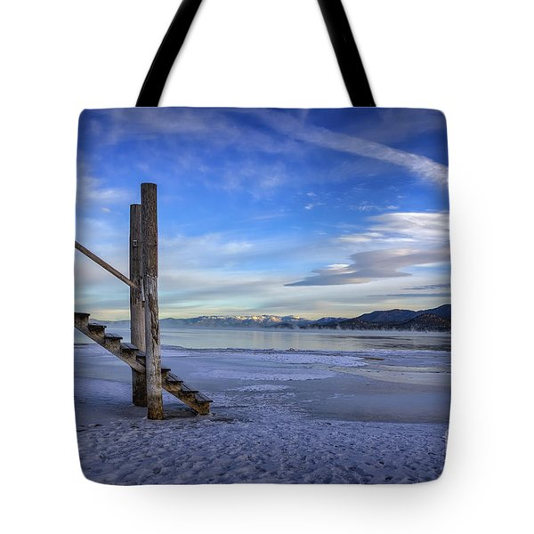 The Morning After Blues Tote Bag