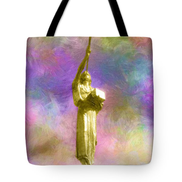Tote Bag featuring the painting The Morning Breaks by Greg Collins