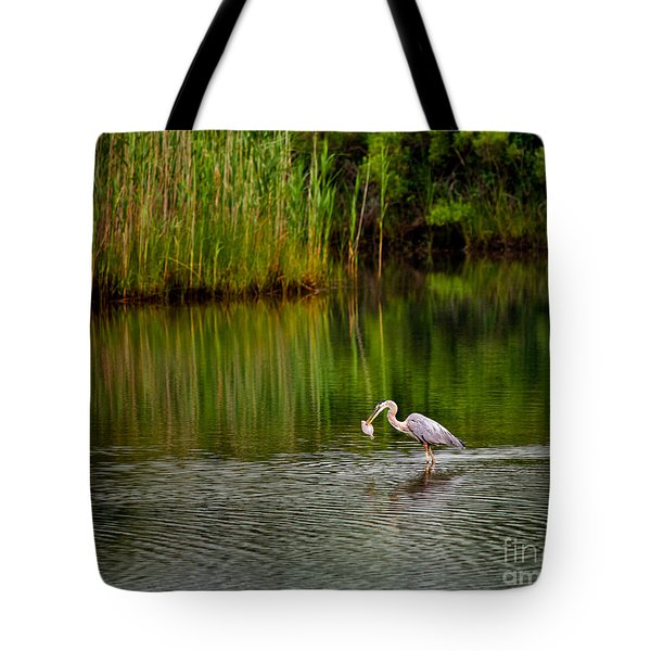 Tote Bag featuring the photograph The Morning Catch by Mark Miller