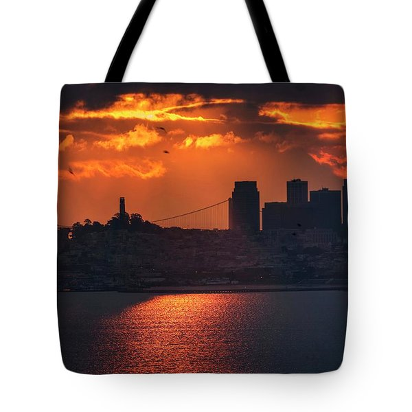 The Morning Fog May Chill The Air, I Don't Care Tote Bag