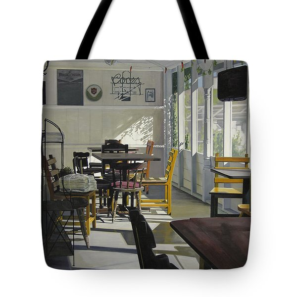 The Morning Paper Tote Bag by Rebecca Zook