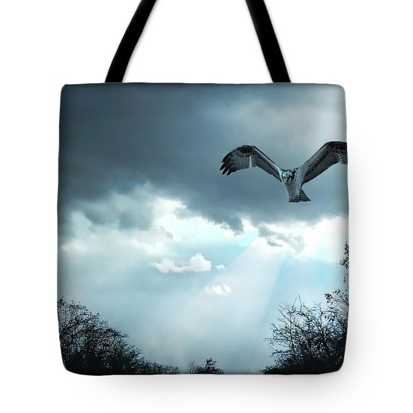 Tote Bag featuring the digital art The Hawk by Zedi