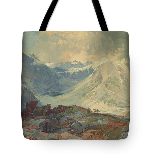 The Mosquito Trail Rocky Mountains Colorado 1876 Tote Bag