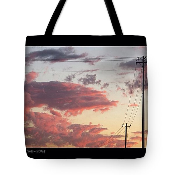The Most #amazing #sunset Over #austin Tote Bag