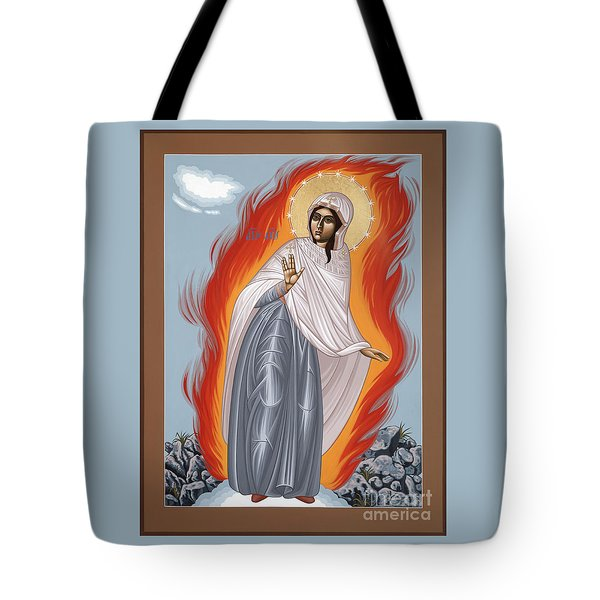 Tote Bag featuring the painting The Mother Of God Of Medjugorgie 084 by William Hart McNichols