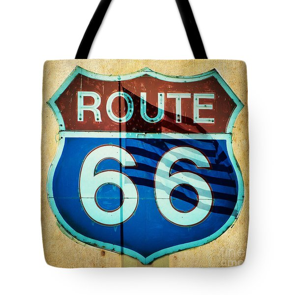 Tote Bag featuring the photograph The Mother Road Route 66 by MaryJane Armstrong