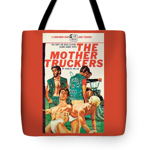 Tote Bag featuring the painting The Mother Truckers by Unknown Artist