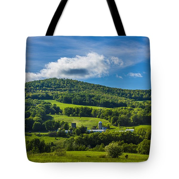 Tote Bag featuring the photograph The Mountain And Sky Landscape by Paula Porterfield-Izzo
