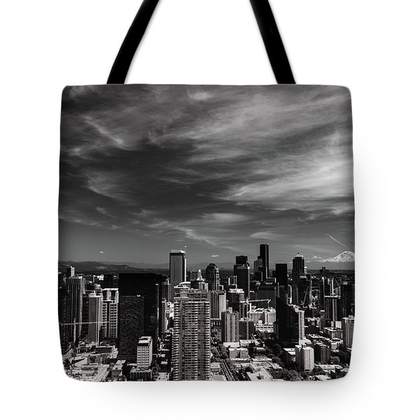 Tote Bag featuring the photograph The Mountain Is Out by Stephen Holst