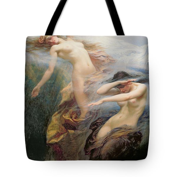 The Mountain Mists Tote Bag by Herbert James Draper
