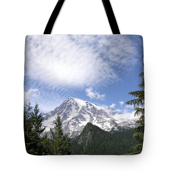 The Mountain  Mt Rainier  Washington Tote Bag by Michael Bessler