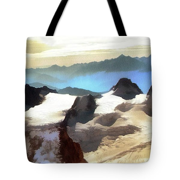 The Mountain Paint Tote Bag by Odon Czintos