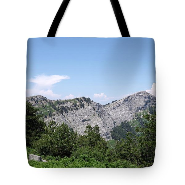 The Mountains Of Thassos Tote Bag
